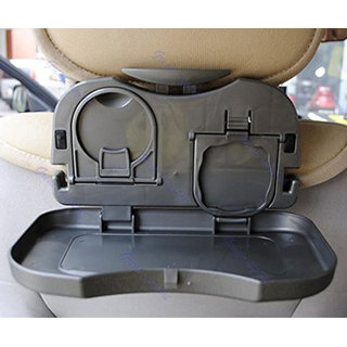 Travel Dining Tray, Car Meal Plate  Cup Holder Tray