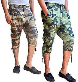 Grahakji Men's Multicolor Shorts (Pack of 2)
