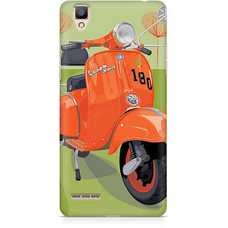 CopyCatz Orange Vespa Premium Printed Case For Oppo F1