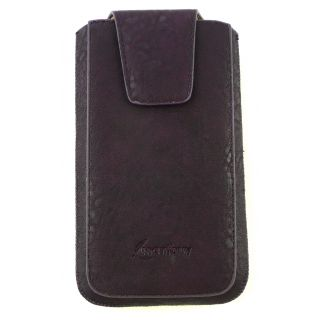 Emartbuy Classic Range Purple Luxury PU Leather Slide in Pouch Sleeve Holder ( Size 4XL ) With Pull Tab Suitable For Digma Citi Z520 3G Smartphone
