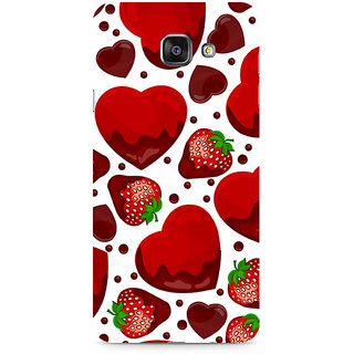 CopyCatz Strawberry And Hearts Premium Printed Case For Samsung A510 2016 Version