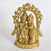 Radha Krishna Brass Statue,Religious God Idol For Pooja,Puja Mandir Statue