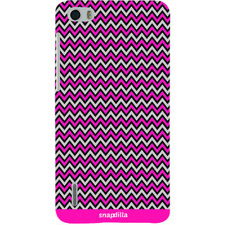 Snapdilla Pink Plastic Crazy Look Back Cover For Huawei Honor 6