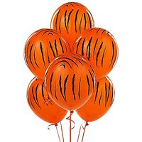 6 Pack Jungle Tiger Stripes Latex Balloons