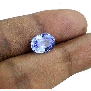 JAIPUR GEMSTONE 7.25 Ratti Blue Sapphire Nilam Stone