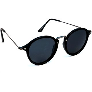 a5c16adf51f Buy TheWhoop Black Fashionable Round Sunglasses Online - Get 57% Off