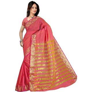 Fashion Women's Traditional Art Pure Banarasi Silk Cotton Saree