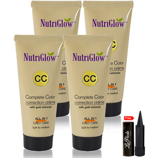 Nutriglow Complete Color Correction Creme With Gold Shimmer (Pack of 4)
