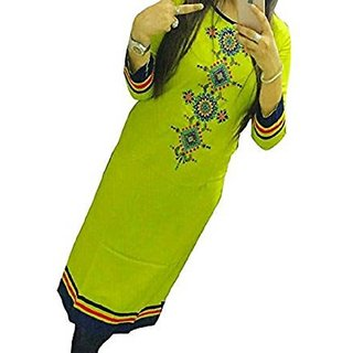 Embroidered semi-stitched Selfie Kurti