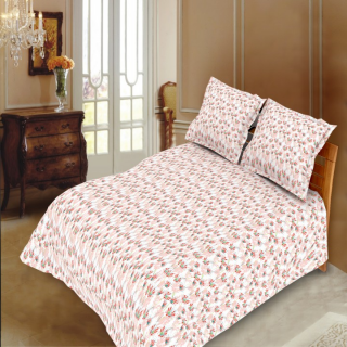 Blush Timeless Double Bedsheet with 2 Pillow Cover 3 pcs Set