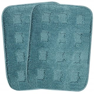 Saral Home Premium Quality Soft Microfiber 2 PC Bathmat Set -35x45 cm ( SOS-86-TURQ)