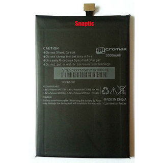Snaptic Original Li Ion Polymer Battery for Micromax Canvas Juice 2 AQ5001 with Golden Nylon Micro USB V8 Cable