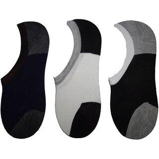 RR Accessories Men's No Show Socks(multi pk3)