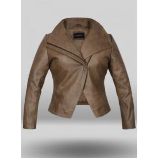 Women's N.B. Lambskin Leather Genuine Biker Jacket