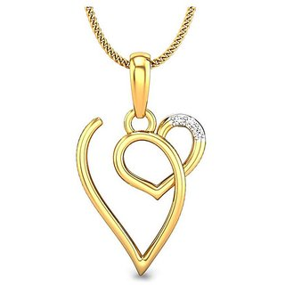 Kataria Jewellers Letter V with Valentine Heart 92.5 BIS Hallmarked Silver and American Diamond Alphabet Initial Pendant