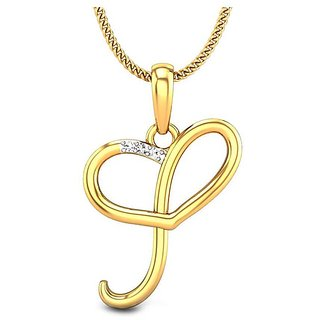 Kataria Jewellers Letter I with Valentine Heart 92.5 BIS Hallmarked Silver and American Diamond Alphabet Initial Pendant