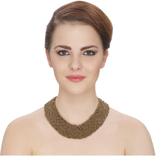 Aradhya Designer High Quality Copper beaded necklace for Women and Girls