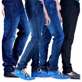 Velgo Pack Of 4 Stylish Deep Blue Jeans