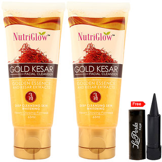 Nutriglow Gold Kesar Facial Cleanser (Pack Of 2)