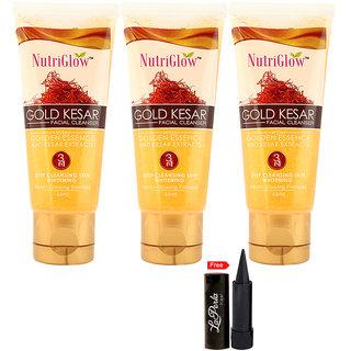 Nutriglow Gold Kesar Facial Cleanser (Pack Of 3)