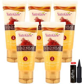 Nutriglow Gold Kesar Facial Cleanser (Pack Of 5)