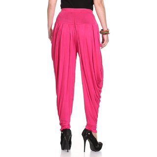 pink color cotton patiala.
