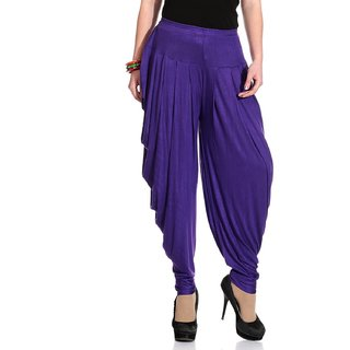 purple color cotton patiala.