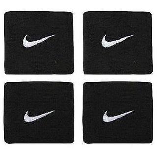 2 Sets (4 Pcs) of Sports Cotton Wrist Band - BLACK in COLOUR CODEYU-2636