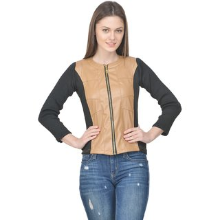 Raabta Brown Faux Leather with Rib