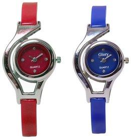 I DIVAS  RED BLUE PAIR Analog Watch - For Girls Women
