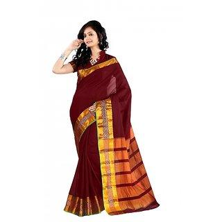 kanak new designer party wear maroon color saree