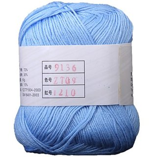 Bamboo Cotton Yarn For Baby -Light Blue