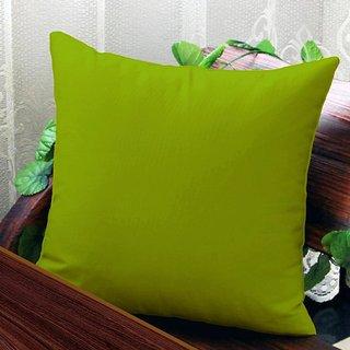 Solid Plain Premium Cotton Cushion Cover - Green- 24 inch x 24 inch