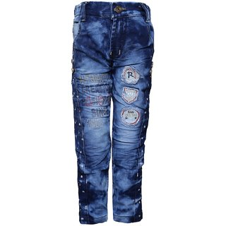 Punkster Denim Blue Casual Regular Jeans For Boys