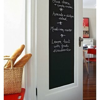 Kanha Black board Vinyl Wall Sticker Removable Decal Chalkboard with 5 FREE Chalks for Home School Office College Room