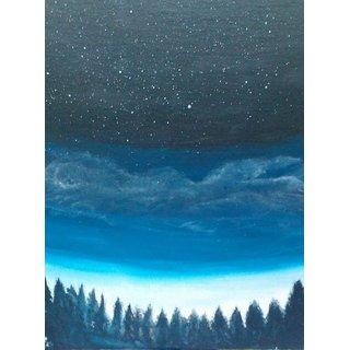 The night sky- Acrylic on canvas