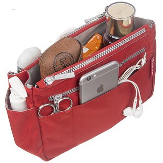 Harissons Multipurpose Purse Organizer for Women (Red,HBN3RED)