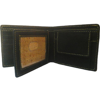 PLC 4N MENS GENUINE BLACK LEATHER WALLET