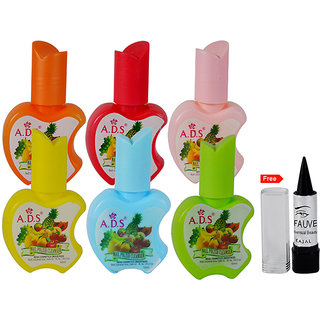 ADS Pack of 6 Flavour Nail Polish Cleanser Free Kajal