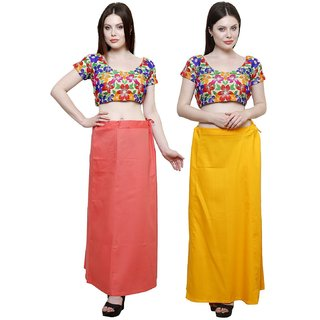 eFashionIndia Women Cotton Saree Petticoats Inskirt combo of 2