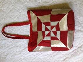 Red Patch Work Shoulder Bag