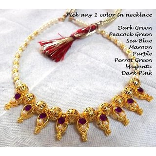 Traditional Pearl Golden Necklace