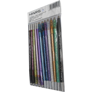 Mars Perfect Sparkle Eye  Lipliner Pencil Rich Color Moisturizing Formula