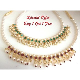 New offer buy 1 get 1 free pearl necklace