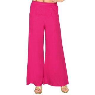 Women's Rayon Plazo (Pink