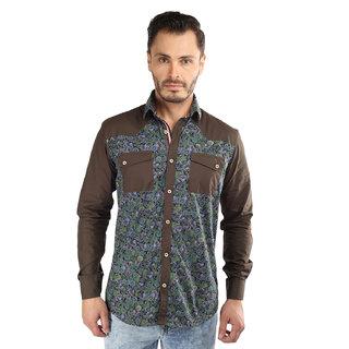 Paisley Printed Cut  Sew Slim Fit Casual Shirt