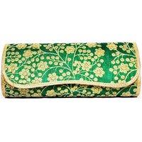 Rosnie Green Embellised Box Clutch