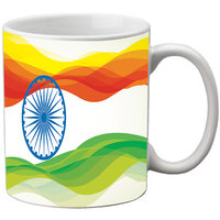 MeSleep Multi Colour Indian Chakra Republic Day India Mug