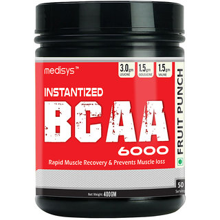 Medisys Instantized BCAA 6000 - Fruit Punch - 400gm