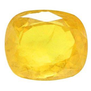 8.5 Ratti Natural Yellow sapphire Pukhraj Stone